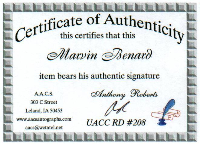 Marvin Benard COA
