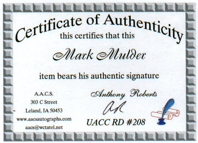Mark Mulder COA