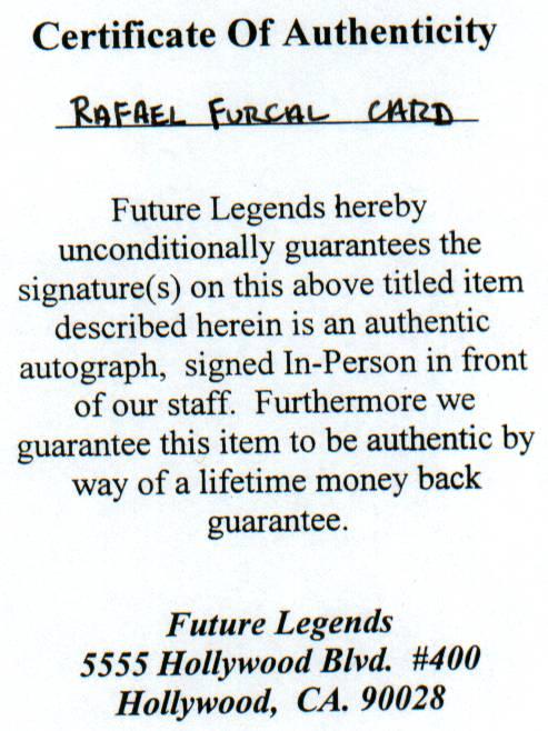 Rafael Furcal COA